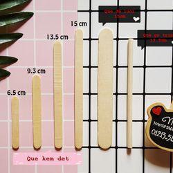 Que kem gỗ que tròn đè lưỡi nhiều size - Làm khung hình nhà mô hình nguyên liệu handmade