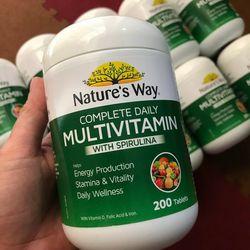 Viên uống Vitamin tổng hợp từ tảo biển và rau củ lọ 200 viên