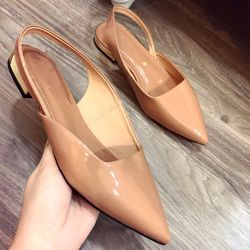 Giày sanda mui nhọn da bóng giá sỉ