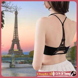 Áo Bra hai dây nữ màu đen tháp eiffel mặc đi bơi đi biển sexy quyến rũ dễ thương cao cấp cá tính đẹp 2019 giá sỉ