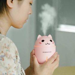 Máy phun sương tạo ẩm hình thú cao cấp 3in1 hình con mèo - kết hợp quạt và đèn ngủ giá sỉ, giá bán buôn