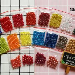Set 10 túi hạt trang trí các loại bịch 3-6g - Hạt cườm xỏ hạt làm nhụy hoa trang trí handmade
