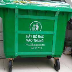 Địa chỉ cung cấp thùng rác nhựa 660 lit có 4 bánh xe giá sỉ