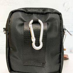 Túi đeo chéo vải dù màu đen trơn chống thấm nước TDC0003 giá sỉ