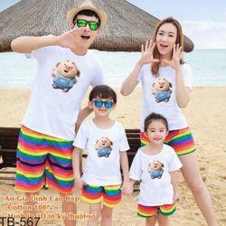 áo thun gia đình new C49 giá sỉ