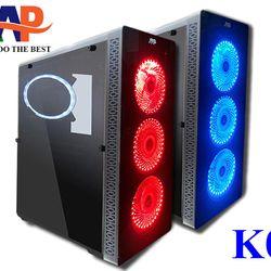 CASE AAP K01 GAMING Mặt trước hông trong suốt sẵn 3fan led giá sỉ