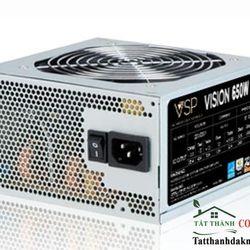 Nguồn VISION- 650W fan 12cm sata -BOX CÓ DÂY NGUỒN