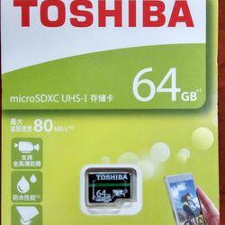 THẺ NHỚ MICRO SD 64G TOSHIBA BOX XANH 100MB giá sỉ