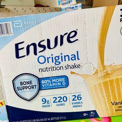Thùng 30 chai sữa Ensure Original 237ml của Mỹ dạng nước
