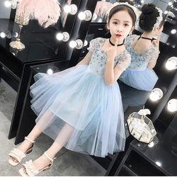 Váy công chúa thêu hoa phối voan lưới cực xinh Mã sp TE1181 giá sỉ