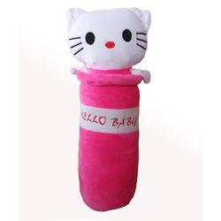 Gối ôm cao cấp Kitty sọc 60cm dành cho bé