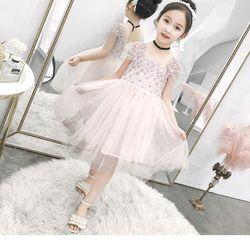 Váy công chúa thêu hoa phối voan lưới cực xinh Mã sp TE1182 giá sỉ