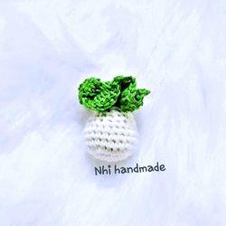 móc khóa củ cải handmade giá sỉ