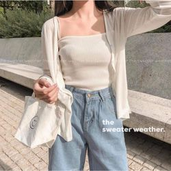 Áo cardigan len mỏng dáng ngắn siêu đẹp giá sỉ