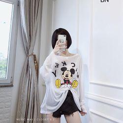 áo thun nữ đẹp kiểu hàn quốc dễ thương giá sỉ dài tay in mickey BN 93914 Kèm Ảnh Thật giá sỉ