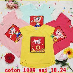 Áo thun cotton 100 SeZi 18-24 giá sỉ