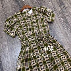 Đầm váy váy kẻ nữ s m l