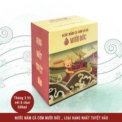 Nước mắm cá cơm Mười Đức Hộp 6 chai - Hạng nhất chai 500ml giá sỉ