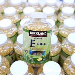 Viên uống Vitamin E 180mg 400iu Mỹ 500 viên làm đẹp da chậm quá trình lão hoá