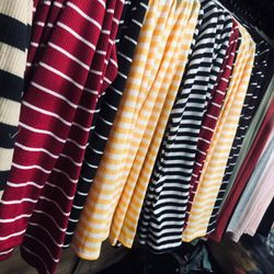 Áo gân len tay dài nhiều màu sọc ngang giá sỉ, giá bán buôn