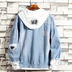 Áo khoác jean nam phong cách bụi có nón - 109 giá sỉ, giá bán buôn