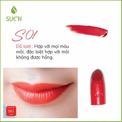 Son Sue'n đỏ tươi 01 – son trang điểm từ thiên nhiên