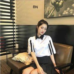 áo thun nữ đẹp kiểu hàn quốc dễ thương giá sỉ sọc vai BN 03217 Kèm Ảnh Thật giá sỉ