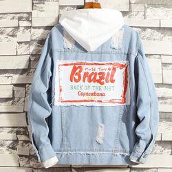 Áo khoác jean nam phong cách bụi không nón- 106 giá sỉ, giá bán buôn