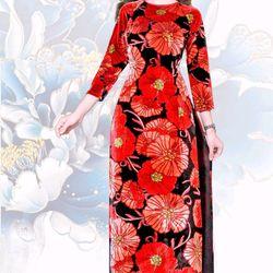 áo dài truyền thống nhung lụa giá sỉ, giá bán buôn