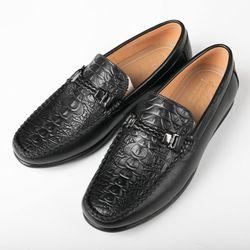 Giày lười da bò thật in vân thời trang GM16 giá sỉ