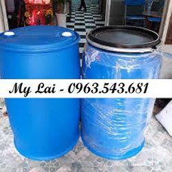 Thùng phuy nhựa 220 lít đựng hóa chất phuy nhựa 220 lít nắp hở phuy nhựa 220 lít 2 nắp giá sỉ