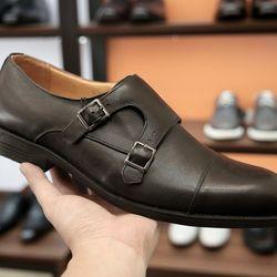Giày tây Monk strap dáng ITALY da bò thật giá sỉ