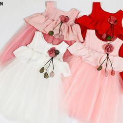 Đầm Tơ Lụa Bé Gái Thời Trang giá sỉ
