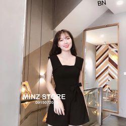 set bộ đồ nữ đẹp chất cá tính dễ thương giá rẻ jum đũi buộc eo BN 27289 Kèm Ảnh Thật giá sỉ