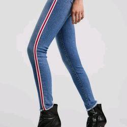 Jeans phối sọc giá sỉ, giá bán buôn