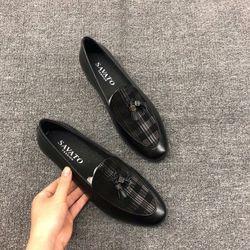 Giày lười nam dáng Hàn quốc da bò thật giá sỉ