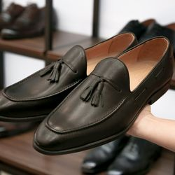 Giày tây lười da bò thật cực kỳ sang chảnh giá sỉ
