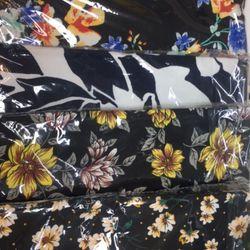 Váy Chống Nắng Truyền Thống Vải Kaki Dày Họa Tiết