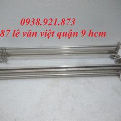 Máng Treo Dao Inox 2 Ngăn Có Móc Treo Xoong Nồi - MD016