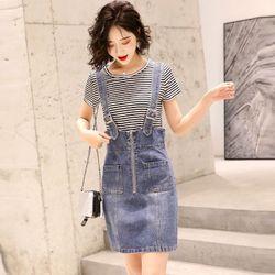 Đầm Yếm Jean Dây Gài Năng Động giá sỉ