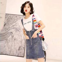 Đầm Yếm Jean Dây Gài Năng Động giá sỉ, giá bán buôn