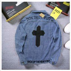Áo Khoác Jeans Cặp Unisex thêu giá sỉ