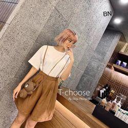 set bộ đồ nữ đẹp chất cá tính dễ thương giá rẻ áo phông quần yếm ống rộng BN 26831 Kèm Ảnh Thật giá sỉ