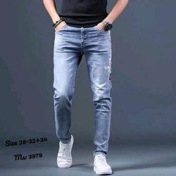 Quần jean nam thêu thời trang chuyên sỉ jean 2KJean giá sỉ