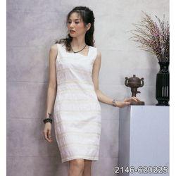 Đầm Kate Hàn Quốc Phối Ren Cao Cấp Mềm Mát 2146 - Trắng giá sỉ