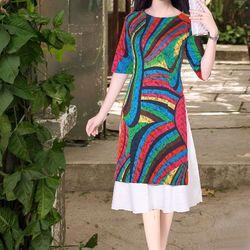áo dài cách tân họa tiết sọc đủ màu giá sỉ
