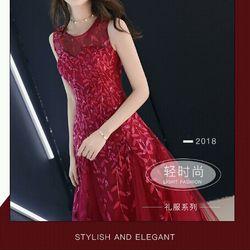 Đầm dạ hội ren đỏ giá sỉ