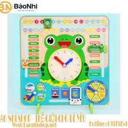 Đồng hồ lịch con ếch bé học tiếng anh giá sỉ