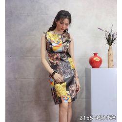 Đầm Lụa Cao Cấp Mềm Mát 2155 - Vàng giá sỉ