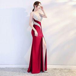 Đầm dạ hội xẻ đùi dáng dài giá sỉ